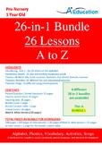 26-IN-1 BUNDLE - 26 Lessons - A to Z (Bundle 1) - Pre-Nurs