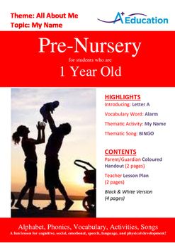 26-IN-1 BUNDLE - 26 Lessons - A to Z (Bundle 2) - Pre-Nursery (1 year old)