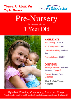 26-IN-1 BUNDLE - 26 Lessons - A to Z (Bundle 3) - Pre-Nursery (1 year old)