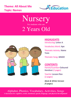 26-IN-1 BUNDLE - 26 Lessons - A to Z (Bundle 4) - Nursery (2 years old)
