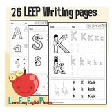 26 LEEP Learn Easy English Phonics Writing Pages