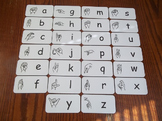26 Laminated American Sign Language Alphabet Flash Cards.  ASL Preschool