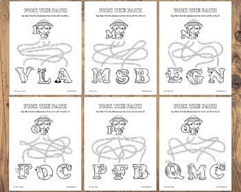Alphabetimals™ Letter Matching Mazes – 26 Printable Animal ABC Activities