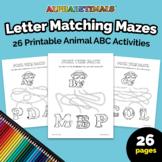 Alphabetimals™ Letter Matching Mazes – 26 Printable Animal