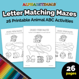 26 Letter Matching Mazes Worksheets – Letter of the Week P