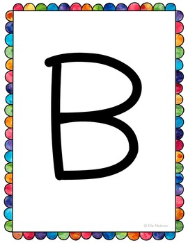 FREEBIE! 26 Upper Case Letter Posters or Cards, Letter of the Week