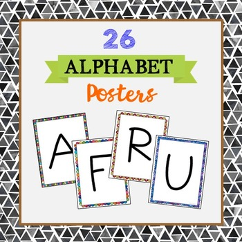 FREEBIE! 26 Upper Case Letter Posters or Cards, Letter of