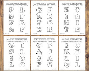 26 Letter Shape Matching Worksheets – Letter of the Week Printables