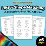 Alphabetimals™ Letter Shape Matching – 26 Printable Animal