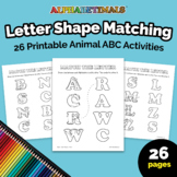 26 Letter Shape Matching Worksheets – Letter of the Week P