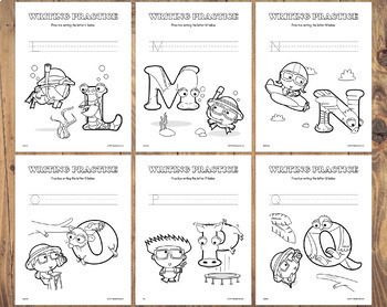 26 Letter Tracing & Coloring Worksheets – Letter of the Week Printables