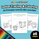 Alphabetimals™ Letter Tracing & Coloring – 26 Printable An