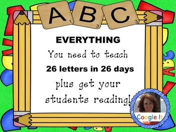 26 Letters in 26 Days for Kindergarten