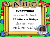 26 Letters in 26 Days for Kindergarten