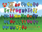 26 Letters of the English Alphabet Desktop or Classroom Poster