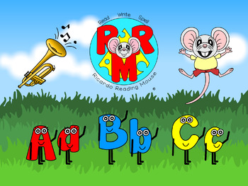 Upbeat ABC Song - 26 Letters of the English Alphabet with Ricardo Reading Mouse