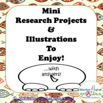 Alphabetical Mini Research Projects & 26 Illustrations to Enjoy!