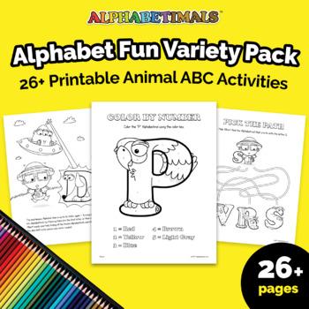 26+ Mixed Alphabet Activity Worksheets  – Alphabetimals Printables