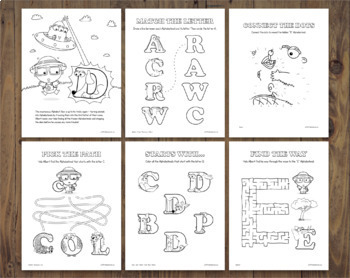 26+ Mixed Alphabet Activity Worksheets  – Alphabetimals Printables