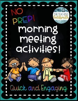 26 Morning Meeting Activities for Upper Elementary - Quick and Engaging