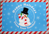 POSTCARDS 26 TEACHER CHRISTMAS NOTE CARDS SNOWMAN HAPPY HO