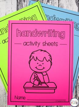 26 NO PREP Handwriting Activity Sheets