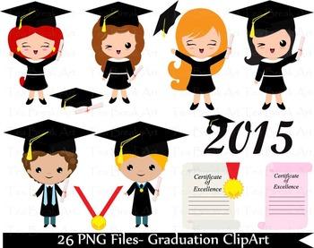 26 PNG Files- Graduation ClipArt- Digital Clip Art (144)