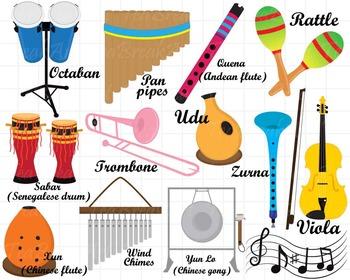 26 PNG/JPG Musical Instruments ClipArt Set 2- Digital Clip Art Graphics (128)