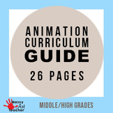 26 Page Animation Curriculum Guide of Projects