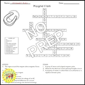 26 Physical Science Crossword Puzzle Coloring Worksheets Middle School
