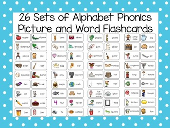 Alphabet Phonics Picture Cards Worksheets & Teaching ...