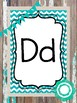 26 Printable Rustic and Teal Alphabet Posters. Classroom Accessories.