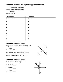 2.6 Proving Statements About Angles (A)