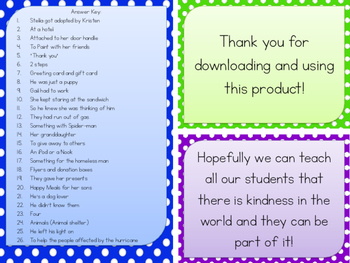 26 Random Acts of Kindness - Reading Cards