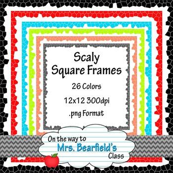 26 Scaly Squares - Digital Frames