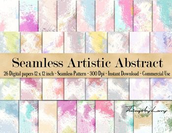 26 Seamless Artistic Colorful Abstract Digital Papers