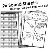 26 Sound Cut Up Sheets - No Prep activity. Digraphs, Graphemes, Vowel Sounds