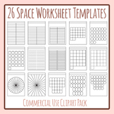 26 Space Worksheet Templates / Layouts - Great for Alphabets Clip Art