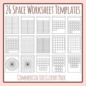 26 Space Worksheet Templates / Layouts - Great for Alphabe