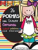 26 Spanish Poems / Poemas con temas comunes usando palabras de uso frecuente