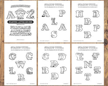 26 Starting Letter Sounds Worksheets – Letter of the Week Printables