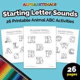 Alphabetimals™ Starting Letter Sounds – 26 Printable Anima