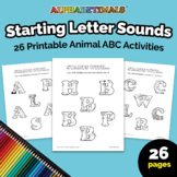 26 Starting Letter Sounds Worksheets – Letter of the Week
