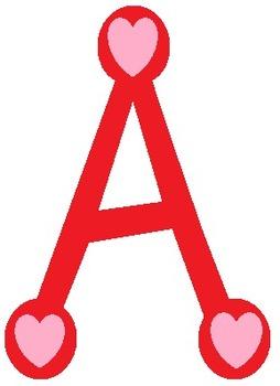 26 Valentine Alphabet Letter Clipart