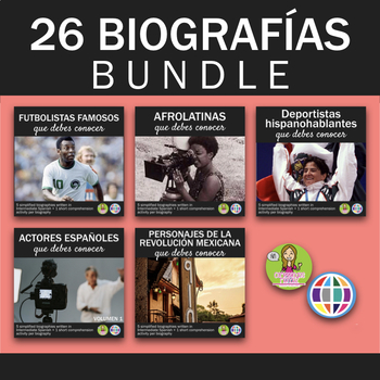 26 biographies - Novice High+ Spanish