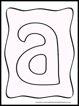 26 lower case Letter Collage worksheets.  Great for daycare or homeschool art.
