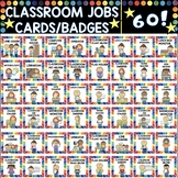 60 English Classroom Jobs cards / badges
