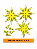 Star Blending A & B Manipulatives