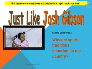2.6.1 2nd Grade Reading Street Just Like Josh Gibson Unit 6 Week 1 p smartboard