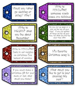263 Monthly Writing Prompt Task Cards & Student Goal Setting Sheets